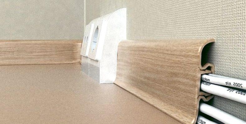 Пошаговый монтаж плинтуса с кабель-каналом