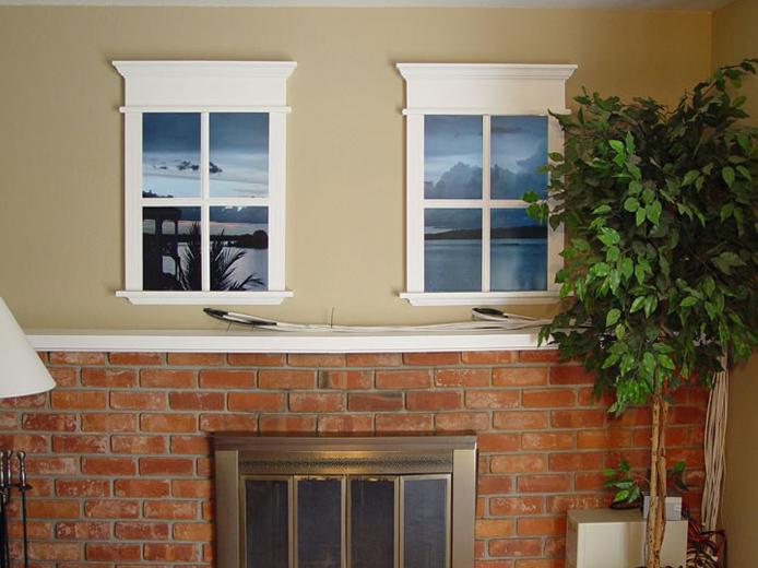 Фальш окно на стене
