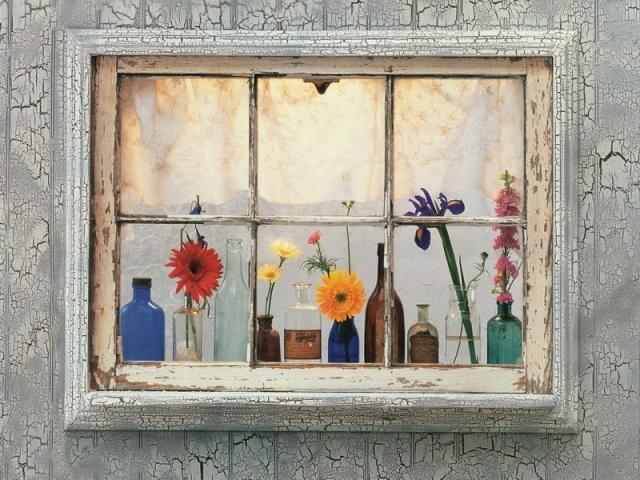 Нарисованное фальш окно